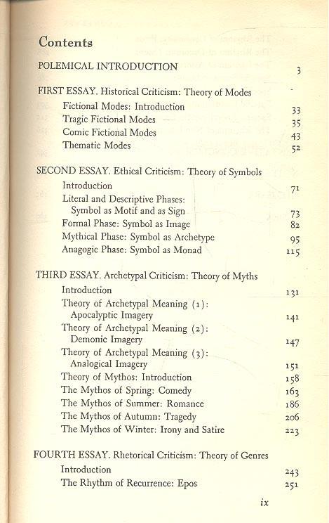 Anatomy of criticism by northrop frye essay   Custom paper Academic ...